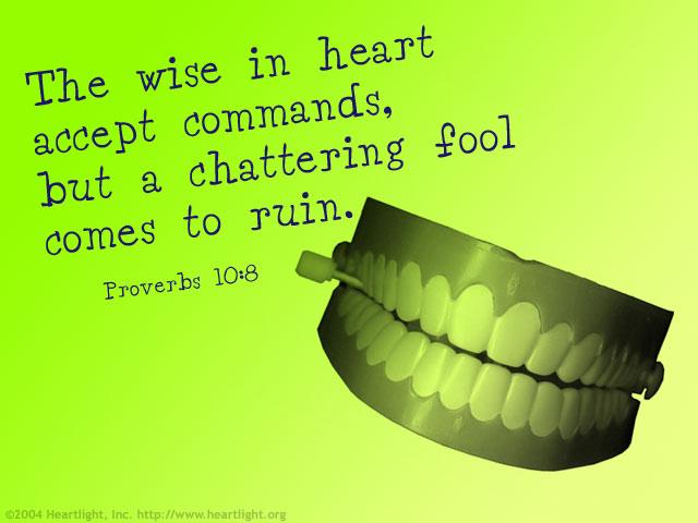 Proverbs 10:8