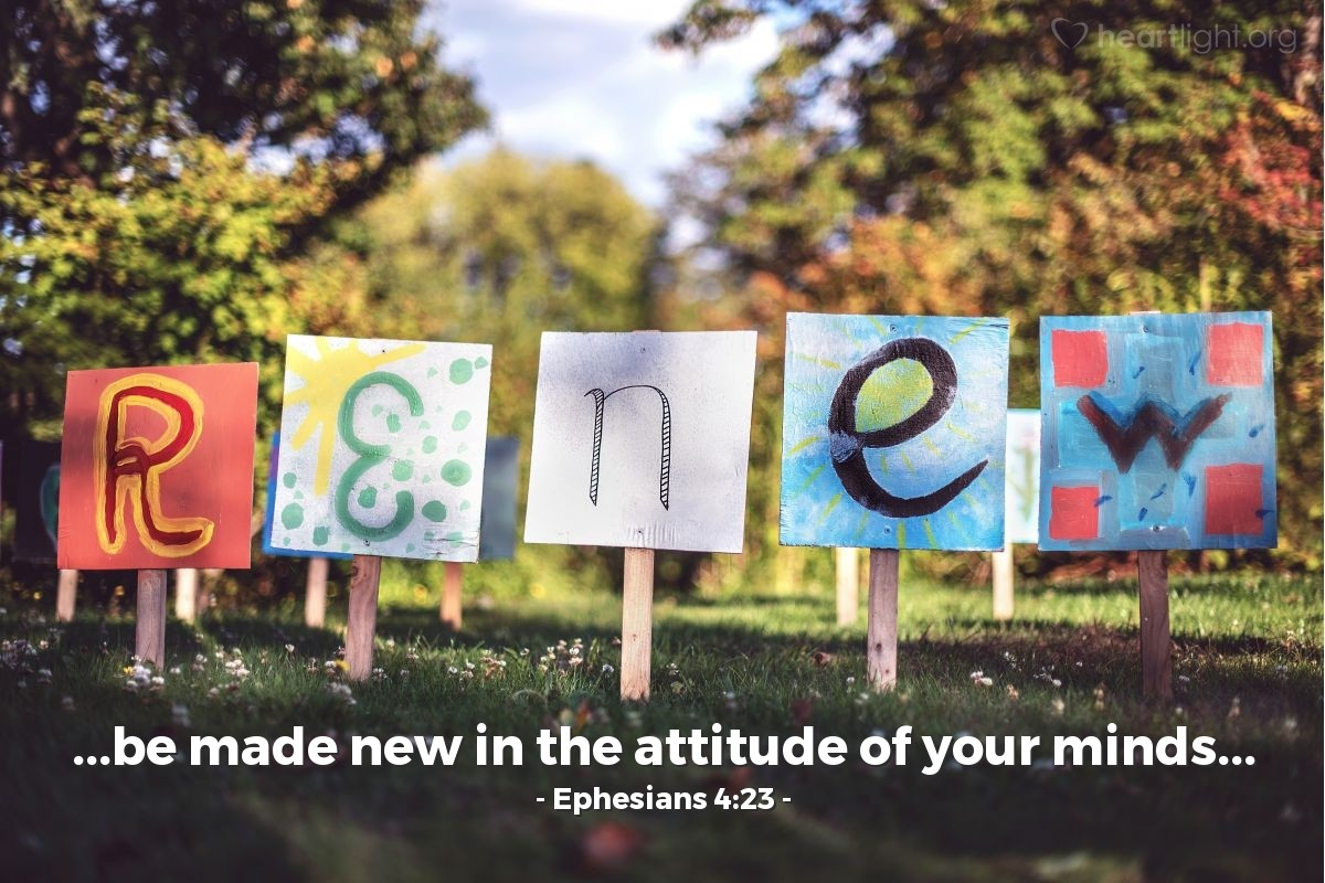 Ephesians 4:23 — Verse of the Day for 01/03/2017