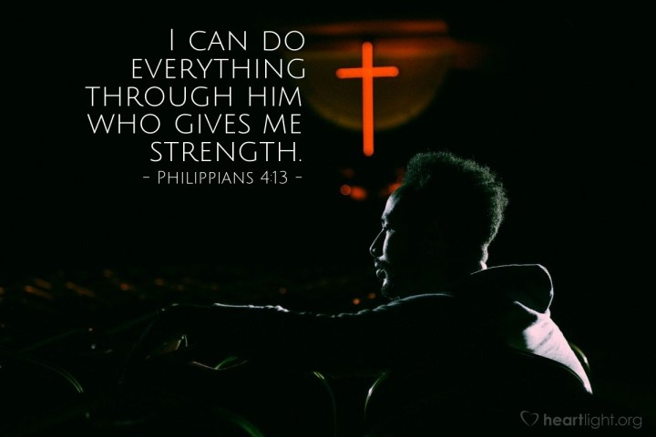 Illustration of Philippians 4:13 — I can do everything through him who gives me strength.