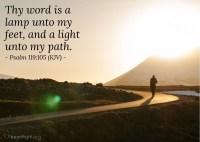 Psalm 119:105 (KJV)  Today's Verse for Thursday