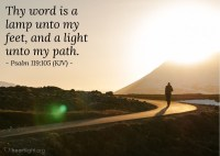 Psalm 119:105 (KJV)  Today's Verse for Thursday ...