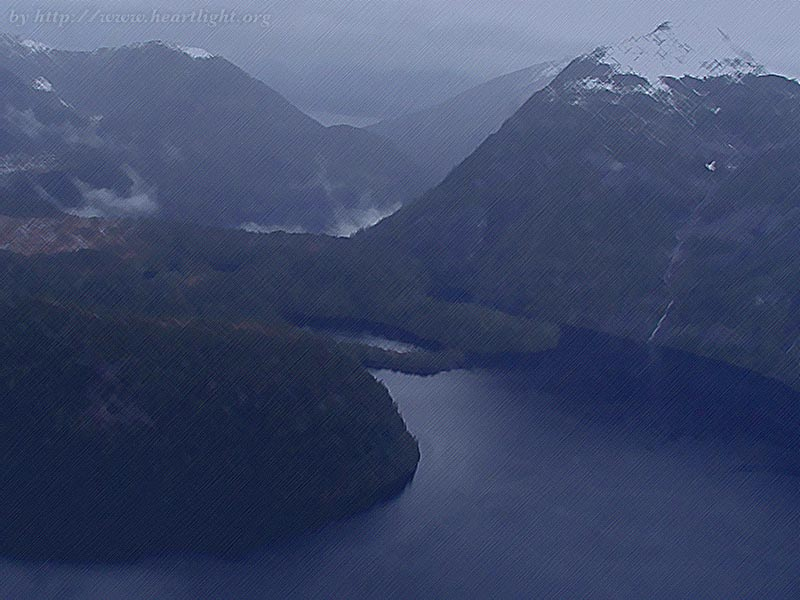 Songs in the Fjords  PowerPoint Background of Alaskan Fjords   Heartlight