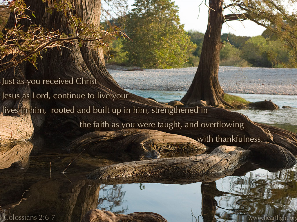 PowerPoint Background using Colossians 2:6-7