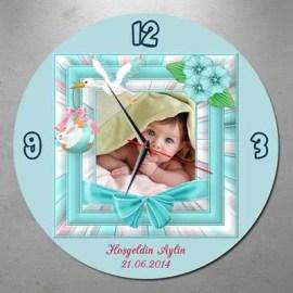 1 Yaş Hediyesi Hoş geldin Bebek Duvar Saati