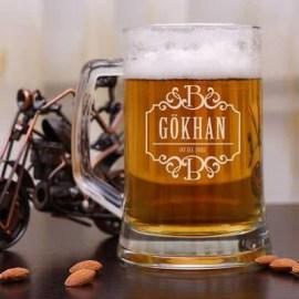 Erkeğe Hediye İsme Özel Bira Bardağı