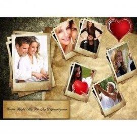 Sevgiliye Doğum Günü Hediyesi Fotokolaj