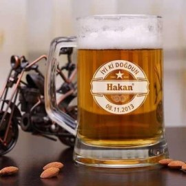 Yılbaşı Hediyesi Kişiye Özel Bira Bardağı