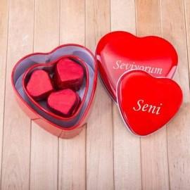 Kız Arkadaşa Özel Hediye Mesajlı Çikolata Kutuları
