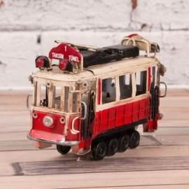 Arkadaşa Yılbaşı Hediyesi Minyatür Tramvay Biblosu