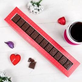 Eşe Doğum Günü Hediyesi İsimli Çikolata