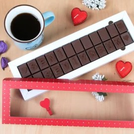 Kız Arkadaşa Hediye Mesaj Yazılı Çikolata
