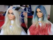 barbie hair hairstyle tutorial