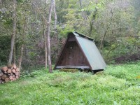 Wooden Tent in the Woods, Gilles Family Dairy & Woodland ...
