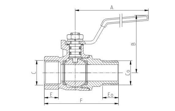 EN331 Approved MOP5-20 M/F Full Port Ball Valve With Steel