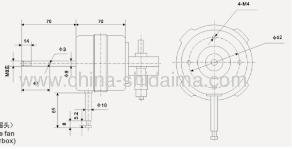 electric fan motor for table fan from China manufacturer