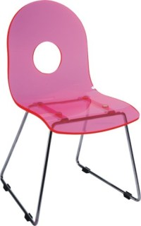 Lovely Pink Baby Seat Plastic children side chairs dining ...