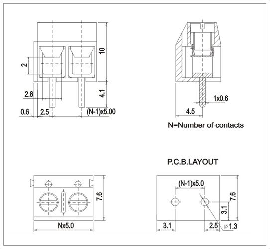 pcb screw terminals block from China manufacturer