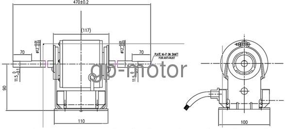 Variable voltage speed control Fan Coils EC FCU fan motor