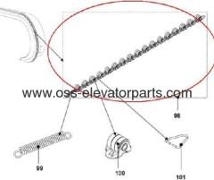 OTIS Handrail pressure roller chain GAA332Z4 from China