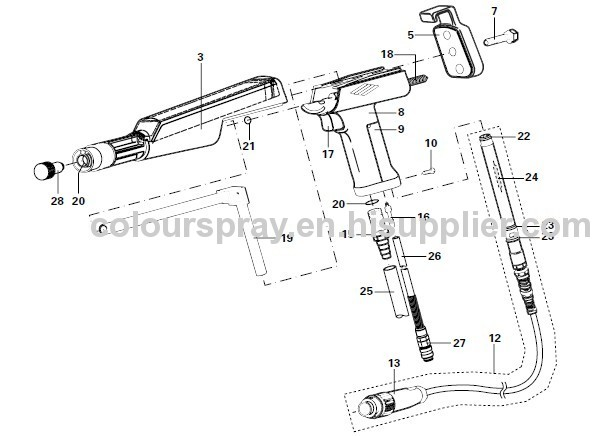 PG 1 Manual Powder gun manufacturers and suppliers in China
