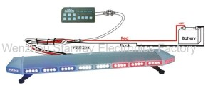 Emergency LED Full light bars for Police Construction, EMS