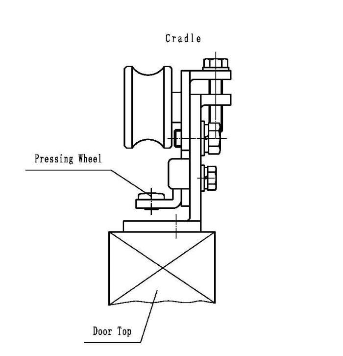 Adjustable Door Hanger/Cradle Parts for Automatic Sliding