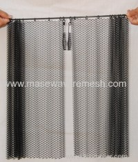 carbon steel black fireplace spark curtain from China