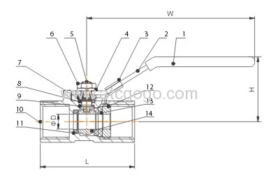 1PC Ball valve Stainless steel SS304 Small Ball Valve