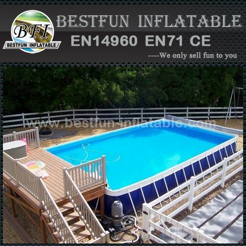 Summer hot sale above ground swimming pool from China manufacturer  Guangzhou Bestfun