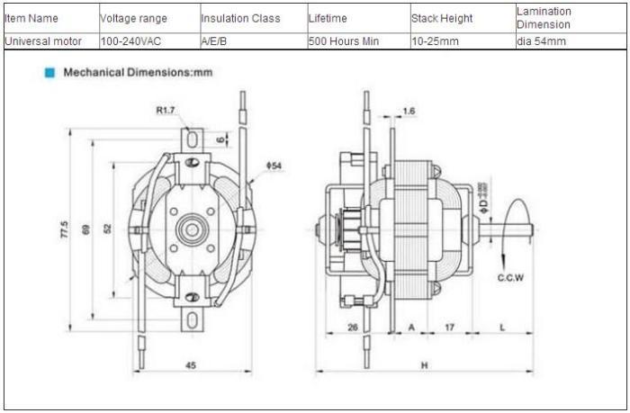 Ac Motor Parts Name