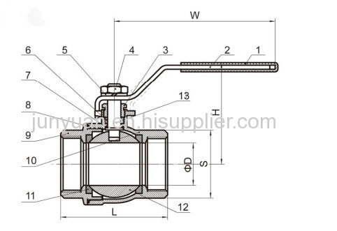 2PC LIGHT DUTY STAINLESS STEEL BALL VALVE FOR WATER
