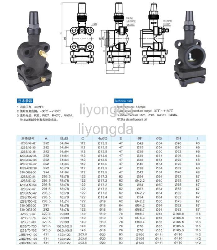 Cast iron refrigeration compressor service valve products
