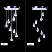Modern Simple Acrylic LED Pendant Light 9-light Ceiling ...