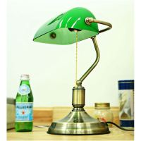 Lighting - Table Lamps - Retro Style Green Shade Fancy ...
