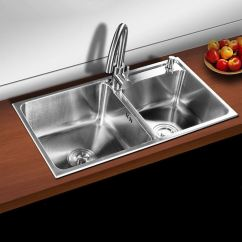 Porcelain Kitchen Sinks Small Table Sets Modern Sink 2 Bowls Brushed # 304 Stainless Steel ...