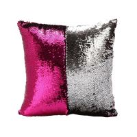 Mermaid Pillow Cover Fuchsia/Silver Change Color Sequins