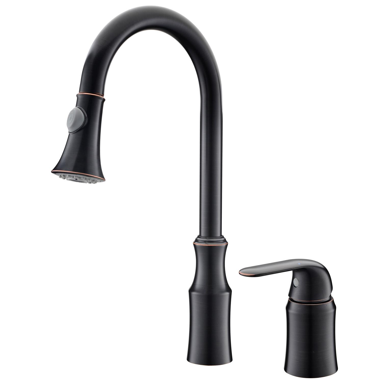 black kitchen faucet white island cart american simple double hole single handle
