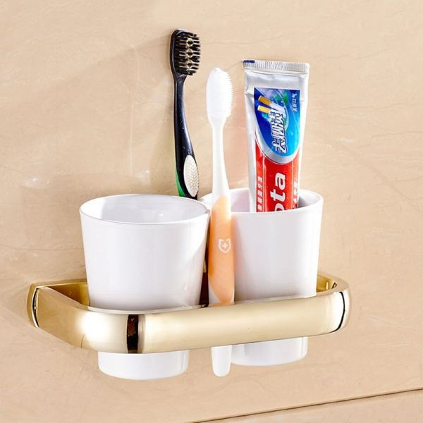 Bathroom Toothbrush and Cup Holder
