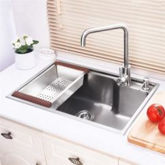 Kitchen Faucets Review Tool Set Modern Sink Single Bowl Hand-made Brushed # 304 ...