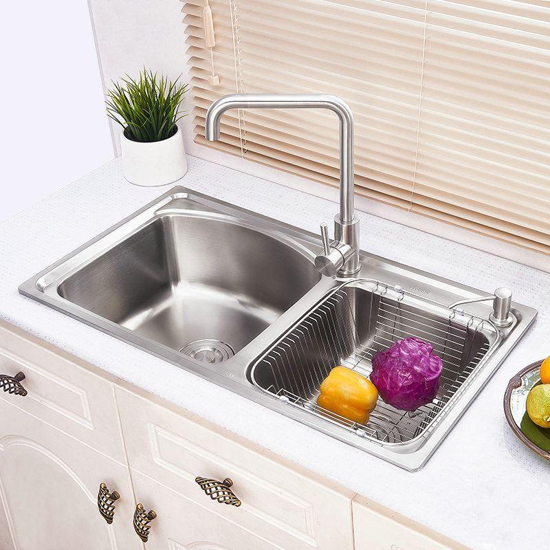 Modern Simple 304 Stainless Steel Sink Arc Design Large ...