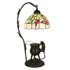 Grape Decor For Kitchen Cheap Wall Cabinets European Pastoral Retro Style Table Lamp Pilfering Cat ...