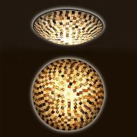 Shell Block Tiffany Flush Mount Ceiling Light