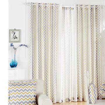 One Panel Nordic Style Wavy Pattern Curtains Advanced Customization