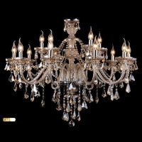 (In Stock) Ceiling Lights Chandelier Crystal Cognac Color