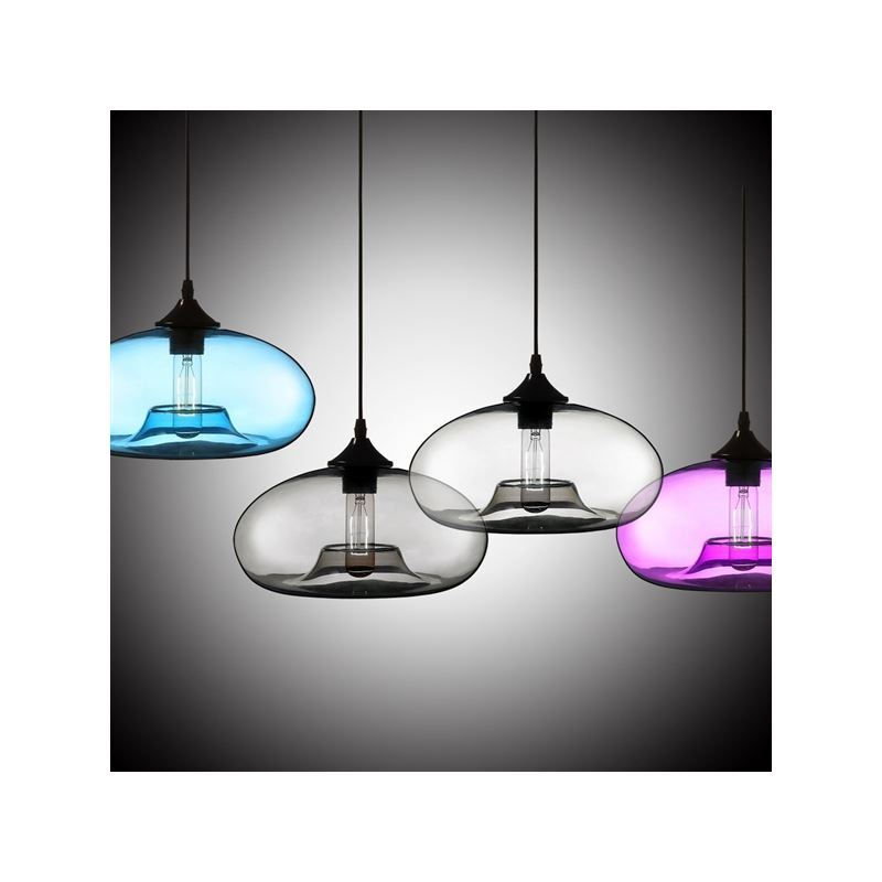 Uk Stock Modern Glass Pendant Light Hand Blown Colorful