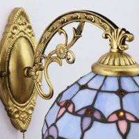 Tiffany Wall Light Blue Baroque Stained Glass Tiffany One ...