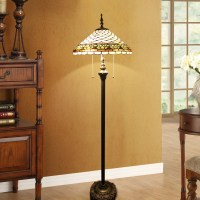Tiffany Floor Lamp Handmade Stained Glass Shade Standard ...
