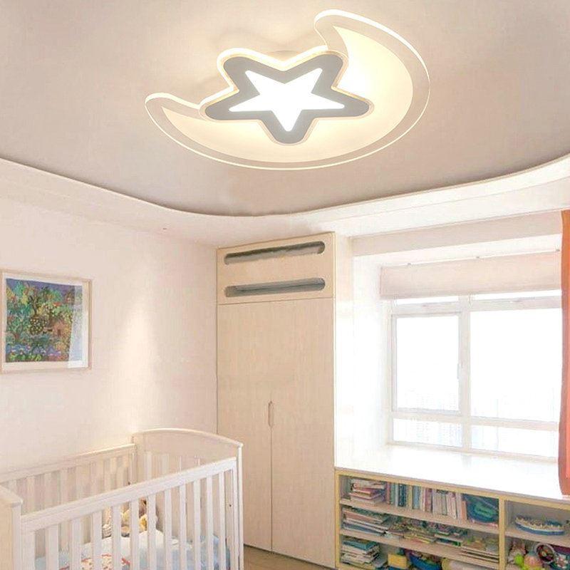 led flush mount light bedroom ultrathin fixture star shape kids room lighting
