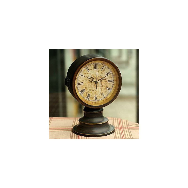 Antique Inspired Table Clock in Iron