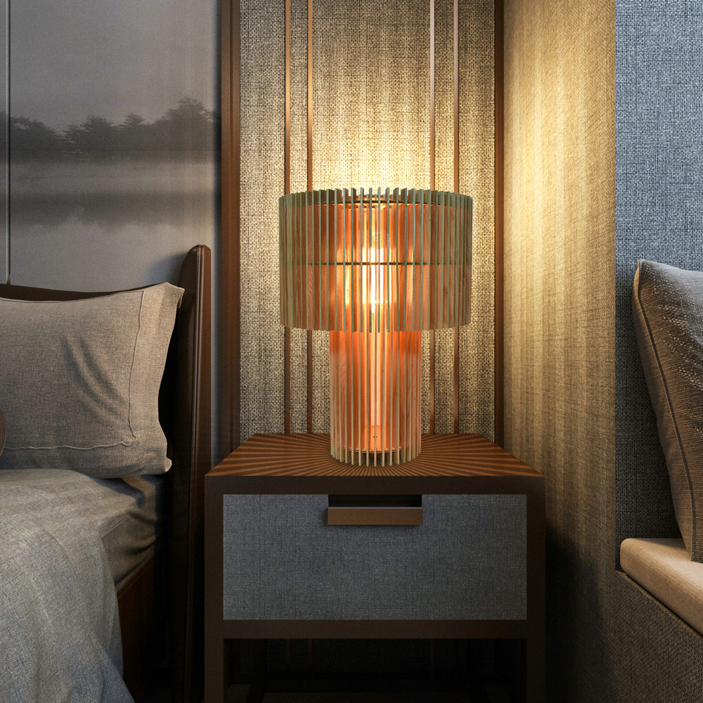 Classic Parametric Table Lamp Stylish Slice Design Desk Lamp Living Room Bedroom 3d Effect Decorative Diy Lighting
